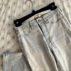Hollister Light Wash Skinny High Waisted Jeans